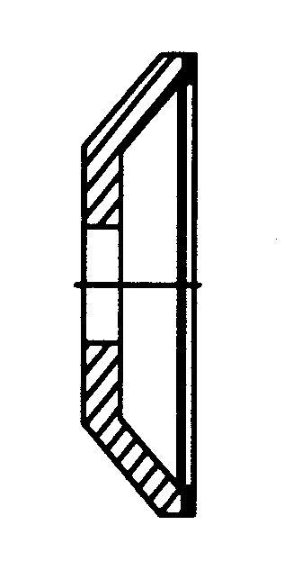 Schleifscheibe Form 1, Diamant, fein